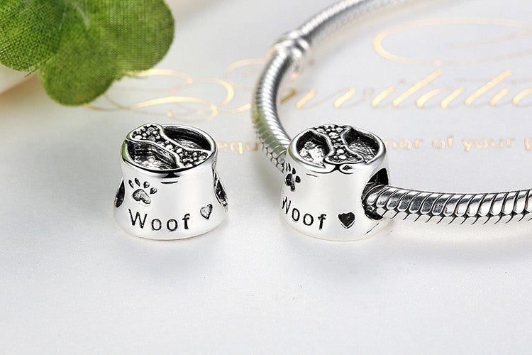 Woof Dog Lover Silver Charm