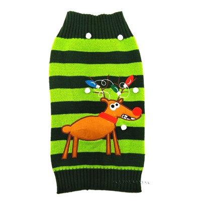 Black & Green Reindeer Sweaters