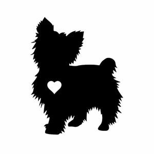 Yorkshire Terrier Heart Silhouette Car Decal