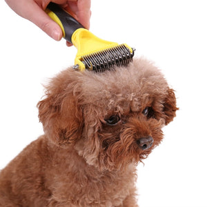 Double Sided Stainless Steel Grooming Brush