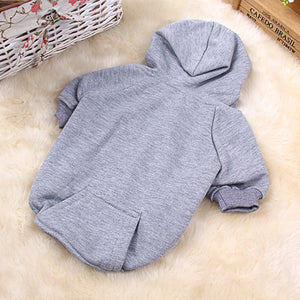 Sollid Cotton Dog Sweater Autumn Winter Warm Pet Hooded Coat Jacket Puppy Cat Clothes Pets Costumes For Small Medium Dogs