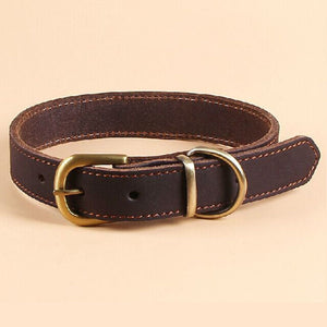 Adjustable Leather Dog Collar