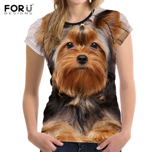 Printed Image Women's Fit Yorkshire Terrier Top