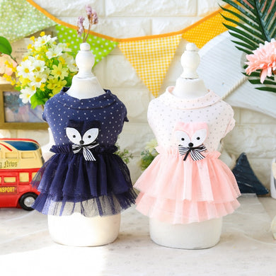 Summer Pet Clothes Pink Dress Dog Dresses For Small Dog Princess Wedding Skirt Luxury Clothing For Dog Soft Lace 05E