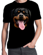 Rottweiler Face Dog Owner Puppy Rottie Happy Pet New Cute Mens Black T-ShirtMan T Shirt Round Collar Tees