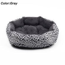 Hot sales! NEW! Colorful Leopard print Pet Cat and Dog Bed Pink, Yellowish brown, Purplish red, Brown, Gray, Yellow SIZE M,L