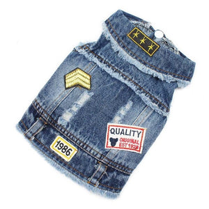 Embroidered Jean Vest
