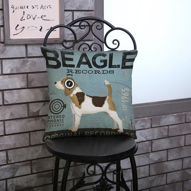 Beagles Vintage Throw Pillows Cover