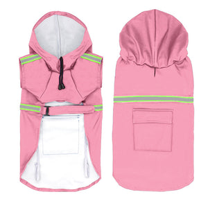 Raincoat For Dogs Waterproof Dog Coat Jacket Reflective Dog Raincoat Clothes For Small Medium Large Dogs Labrador S-5XL 3 Colors