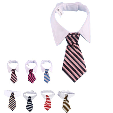 Wholesale New Pet TiesStripe Small Cotton Pet Dog Puppy Necktie Adjustable Bow Tie Grooming