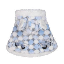 Winter Pet Cloak Dog Clothes Ball Poncho Pet Clothes Small Dog Cute Transer Warm Plush Fur Ball Hoodie Poncho Puppy Dog Coat