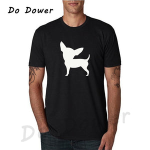 Men's Chihuahua Print Cotton  T-shirt