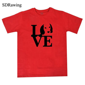 LOVE Beagle Graphic T Shirt
