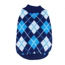 Lovely Warm Lattice Small Pet Dog Knitwear Outdoor Cat Coat Top Sweater 4 Color