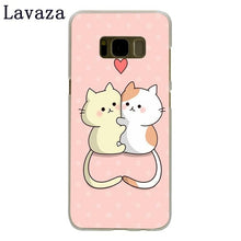 Lavaza Kawaii Molang Cartoon Anime dog cat Hard Phone Case for Samsung Galaxy S6 S7 Edge S8 S9 Plus S3 S4 S5 Cover Shell
