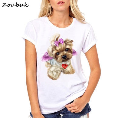 Yorkshire Terrier Angel Womens Fit T-shirt