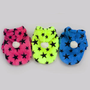 Warm Dog Clothes For Small Dogs Pentagram Pattern Pet Clothing Winter Pet Clothes Coat Jacket Pet Costume Chihuahua Apparel