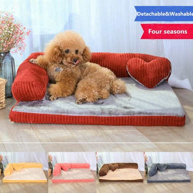 Luxury Large Dog Bed Sofa Dog Cat Pet Cushion For Big Dogs Washable Nest Cat Litter Teddy Puppy Mat Kennel Pet House S M L XL