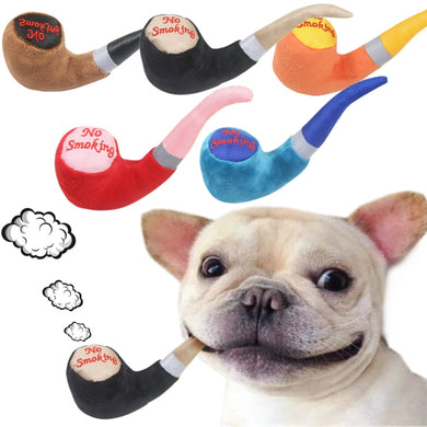 Pipe Shape Plush Pet Squeak Toys Sound Play Dog Toys For Small Large Dogs Cats Puppy Molar Chew Toys Wholesale #F#40AT29