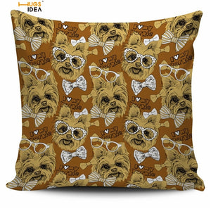 Nerdy Yorkshire Terrier Pillow Cover