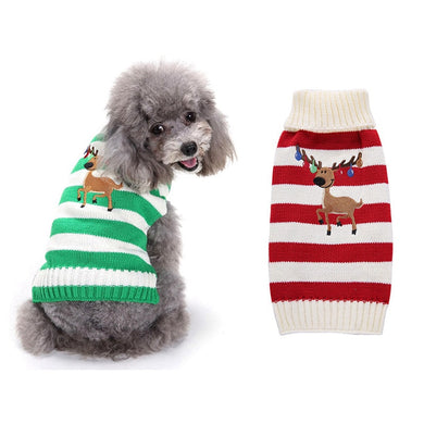 Reindeer Striped Sweater