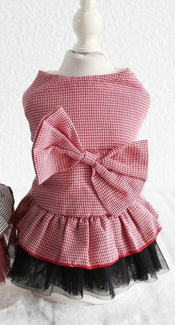 Red and Black Gingham Dog Dress