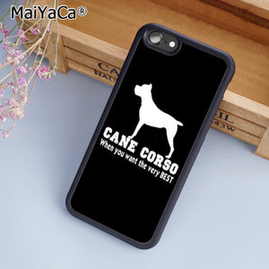 MaiYaCa Italian dogs Cane Corso mastiff  Phone Case Cover for iPhone 5 5s SE 6 6s 7 8 X for samsung S6 S7 edge S8 S9 Plus Shell