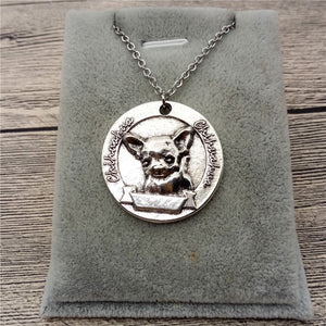 Vintage Style Chihuahua Pendant Necklace