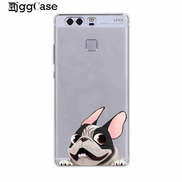 French Bulldog Soft Cover Phone Case For Huawei
