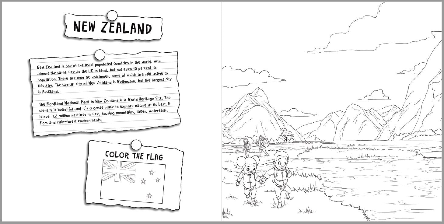 World Traveling Coloring Book