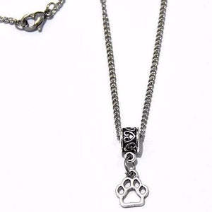 Pet Paw Necklace Stainless Steel link Chain