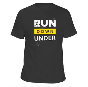Short Sleeve Cotton Tee - BLACK - Run Down Under