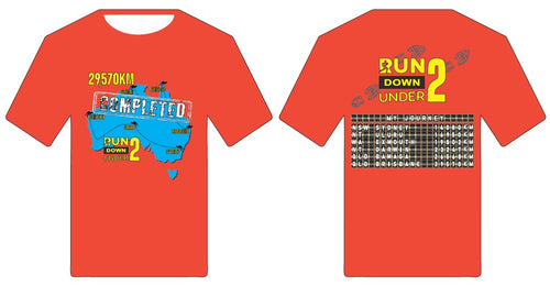 Finishers Shirt - Run Down Under Map 2