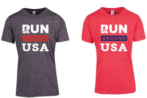 T-shirt range - Run around USA