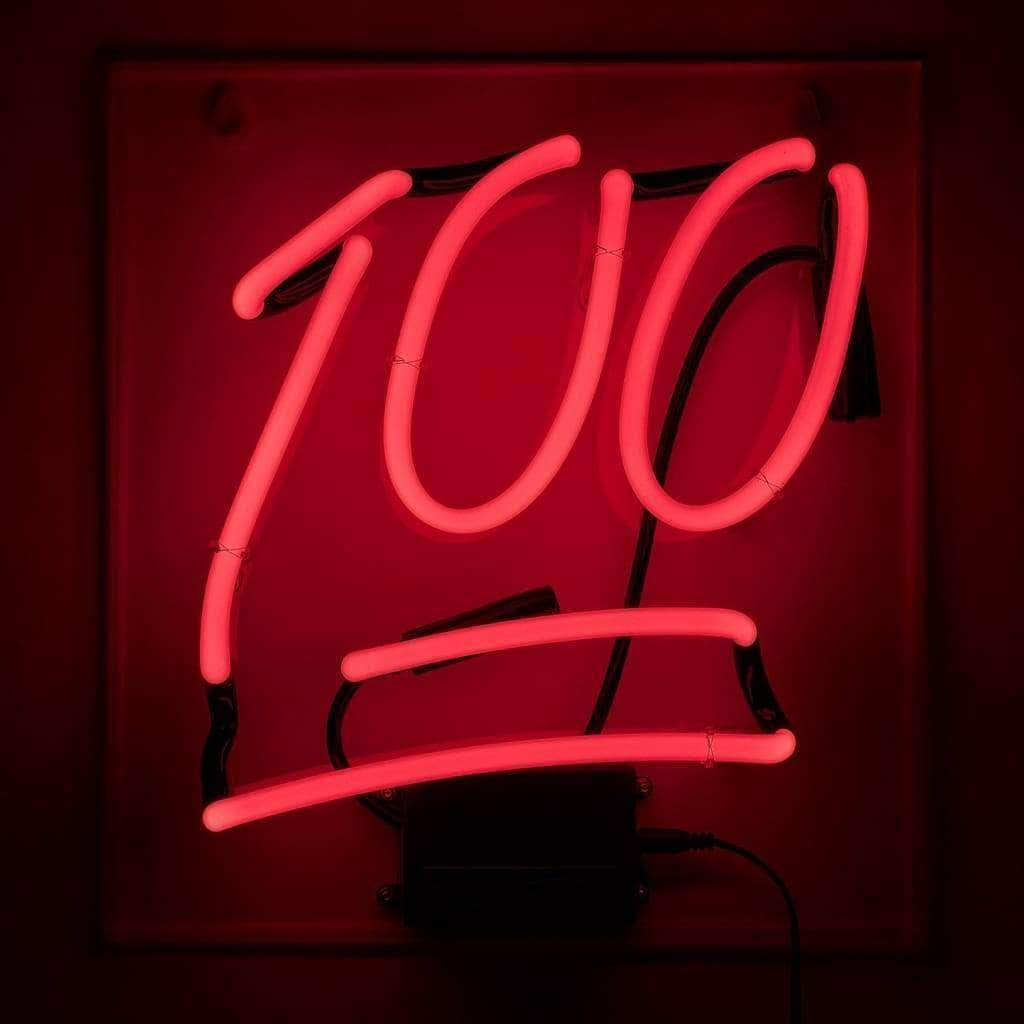 """100"" Neon Emoji Wall Light - Amped & Co®"