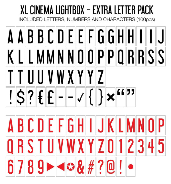 Extra Letter Pack (XL Lightbox) - Amped & Co®