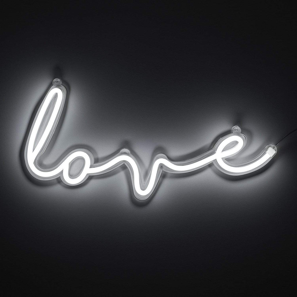 """love"" LED Wall Light (White) - Amped & Co®"