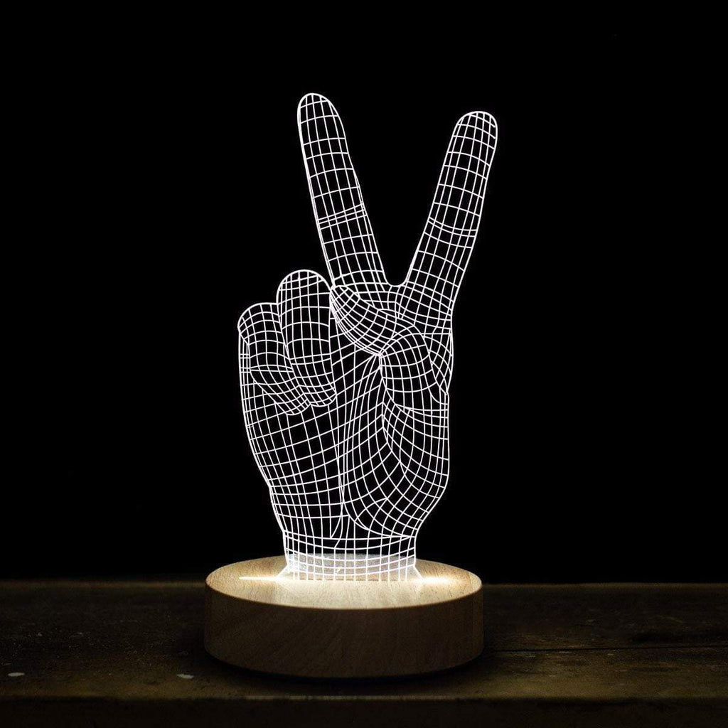 Peace Sign 3D Illusion Light - Amped & Co®