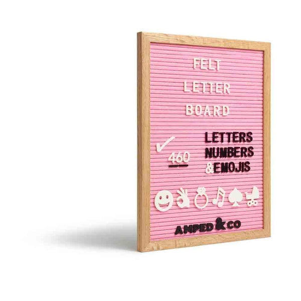 Pink Felt Letterboard (Wall) - Amped & Co®