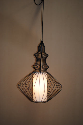 Glass Lantern Small | Black