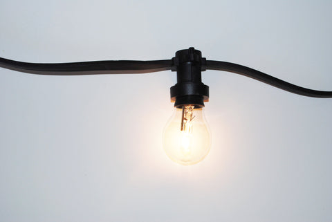 Black Festoon Lighting Chain - 30m
