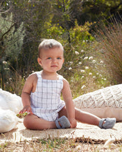 BARKLEY ROMPER LINEN CHECK