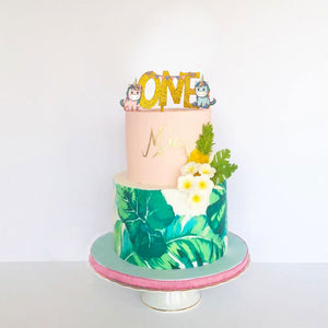 Happy First Birthday Cake Topper Kids