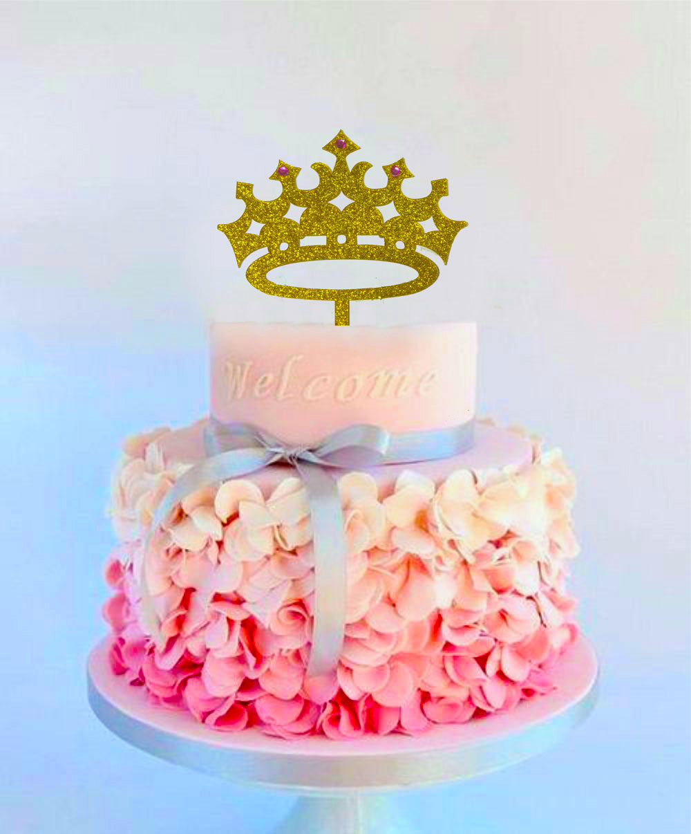 Marvelous Princess Crown Cake Topper Girl Birthday Queen First Birthday Funny Birthday Cards Online Alyptdamsfinfo