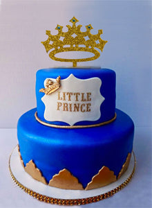 Pleasing Prince Crown Cake Topper Boy Birthday King First Birthday Its Funny Birthday Cards Online Alyptdamsfinfo
