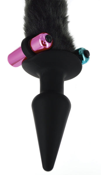 Black Cat Tail Anal Plug and Mask Set