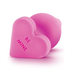 "Naughty Candy Hearts Buttplug ""Be Mine"" in Pink"