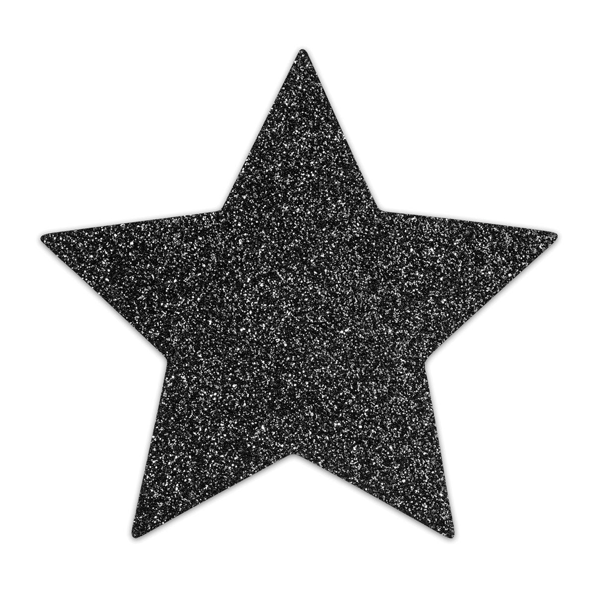 BLACK STAR GLITTERY NIPPLE COVER PASTIES