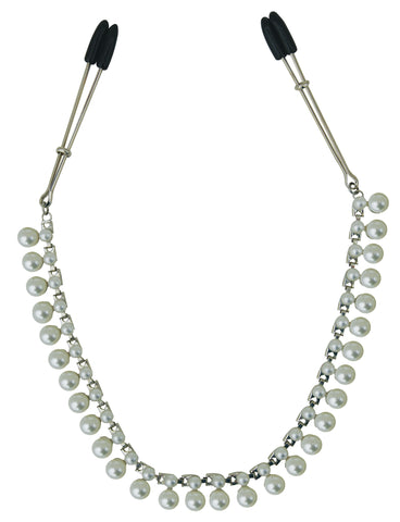 Midnight Pearl Chain Nipple Clips SS520-33