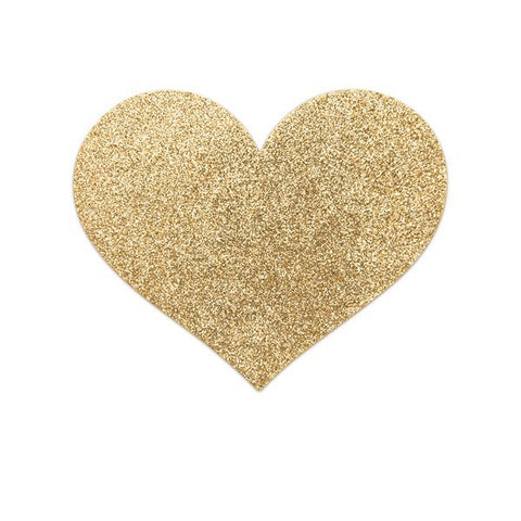 Gold Heart Glittery Metallic Pasties